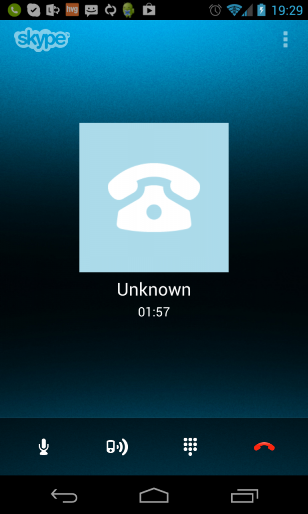 Skype - Lync call on Android phone
